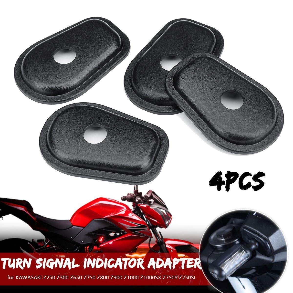 Black Motorcycle Refit Turn Signal Lights Adapter Spacers for Kawasaki Z250 Z300 Z650 Z750 Z800 Z900 Z1000 Z1000SX Z750S Z250SL