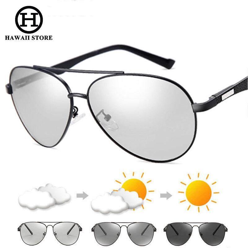 Hawaii Penerbangan Kacamata Fotokromik Pria HD Kacamata Terpolarisasi Pria Bunglon Kacamata Hitam Pria Kacamata Berkendara Klasik