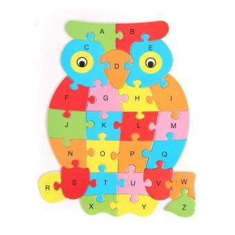 Wooden Animal Shaped Jigsaw Puzzle 26 Letter Blocks Kids Learingeducational Toy Owl