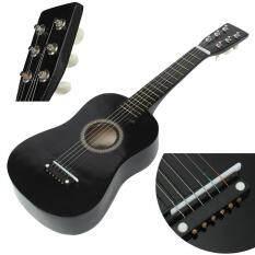 HOT New Người Mới Bắt Đầu Đen Bồ Đề Acoustic Với Đàn Guitar Chọn Dây Dây