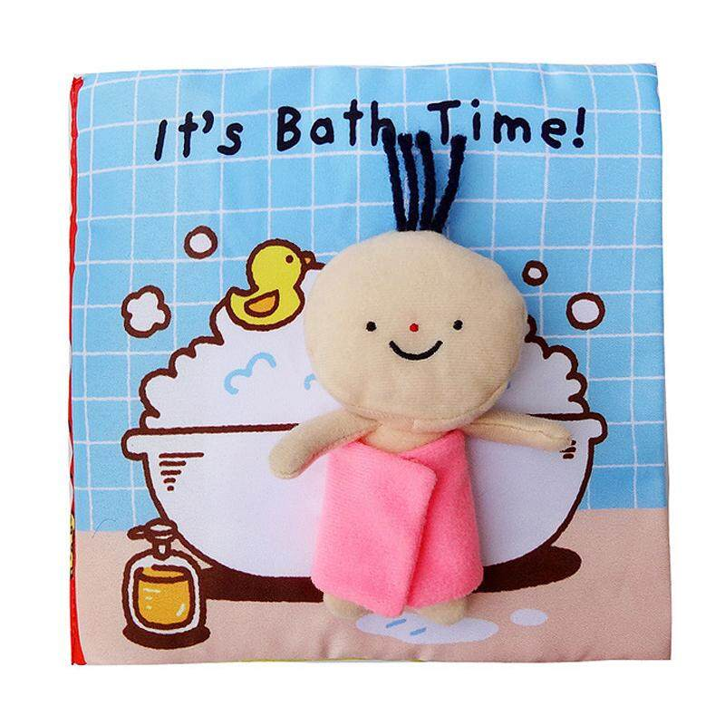 Baby Infant Soft Fabric Cloth Book Toddler Touch and Feel Development Quiet Book to Teach Baby to Love to Bath