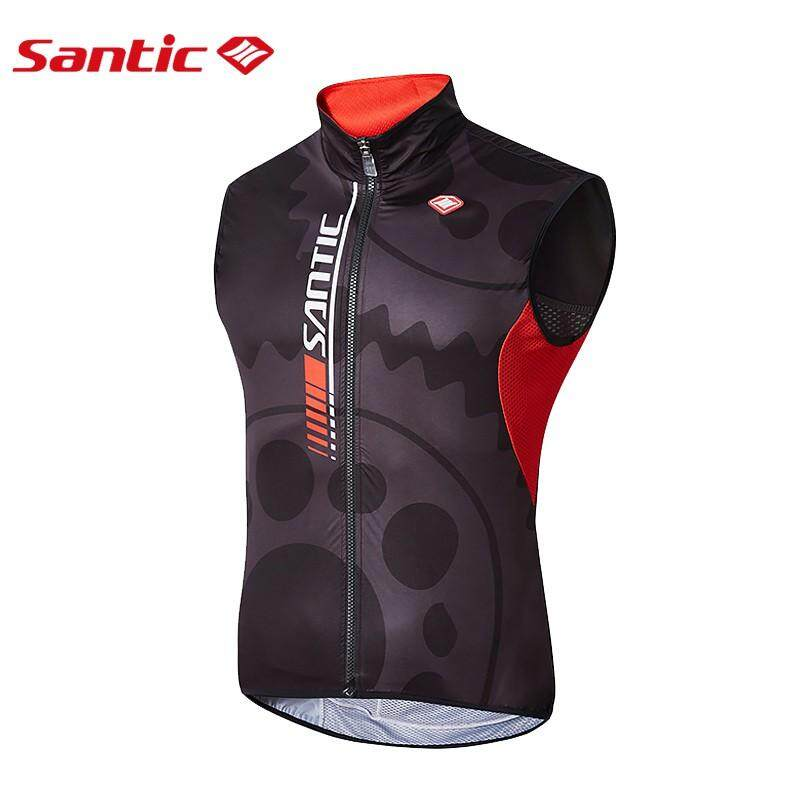 Santic Men's Sleeveless Cycling Jerseys Road MTB Bike Bicycle Windproof Anti-sweat Quik Dry Jackets Coats Waistcoat Vest