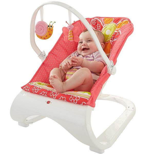 Baby Comfort Bouncer - Floral Pink
