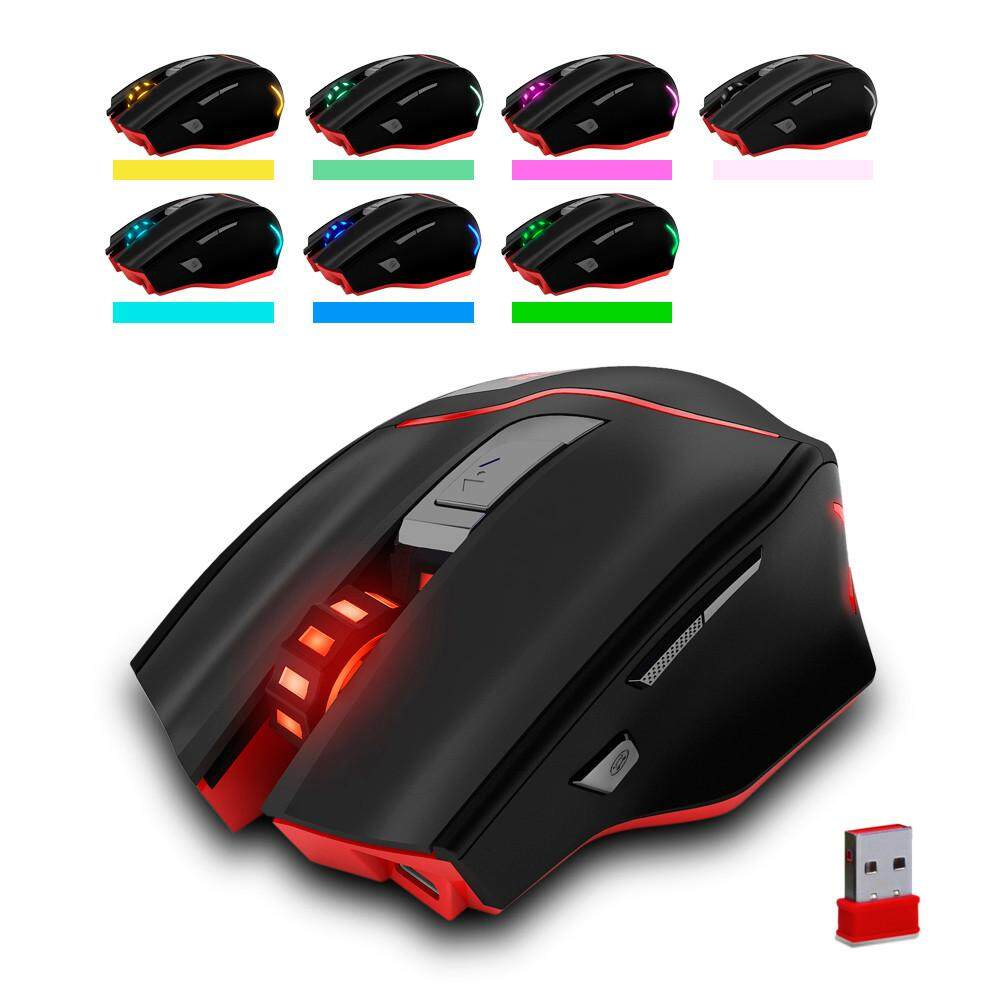 JY ZELOTES F-18 Dual-mode Gaming Mouse6 Level 3200DPI 500Hz Wired/Wireless 7 Color