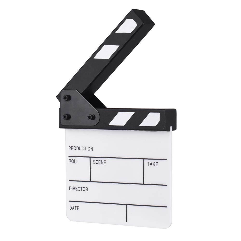 gazechimp Dry Erase Directors Film Movie Clapboard Cut Action Scene Clapper Board