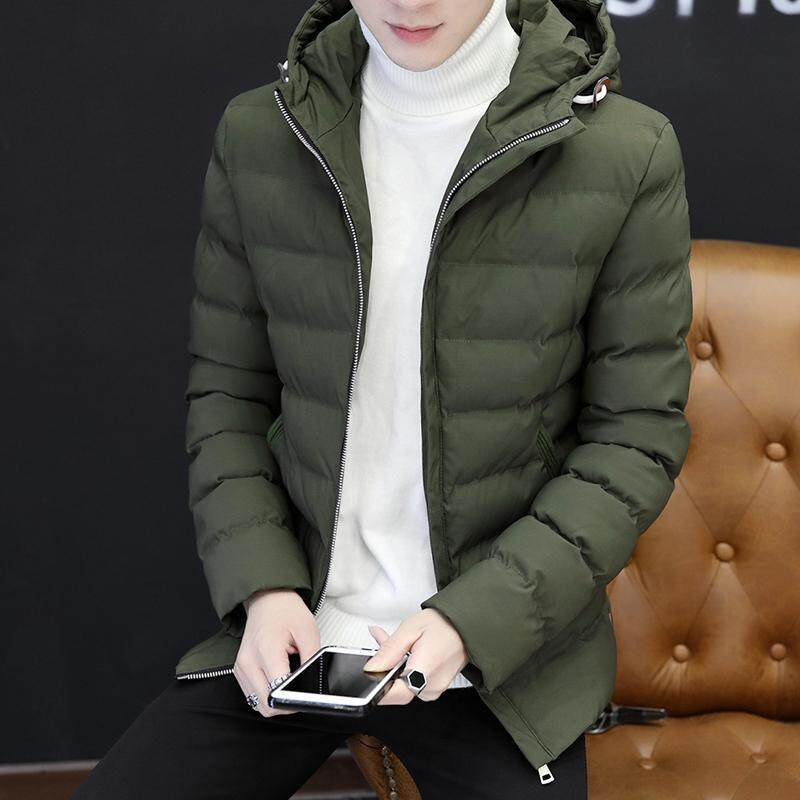 74ec85213 2018 Winter New Style Warm Cotton-padded Clothes Men's Wear Korean Style  Hooded Cotton Coat