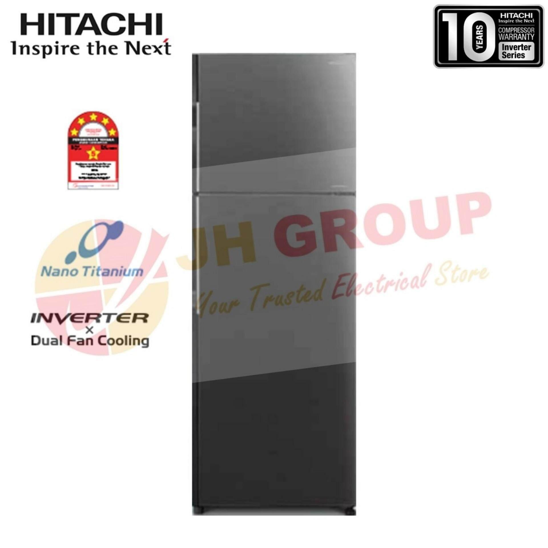 (AUTHORISED DEALER) HITACHI JAPAN R-H350P7M BBK 318L INVERTER 2 DOOR REFRIGERATOR