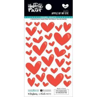 Illustrated Faith Basics Enamel Heart Stickers - Apple of My Eye