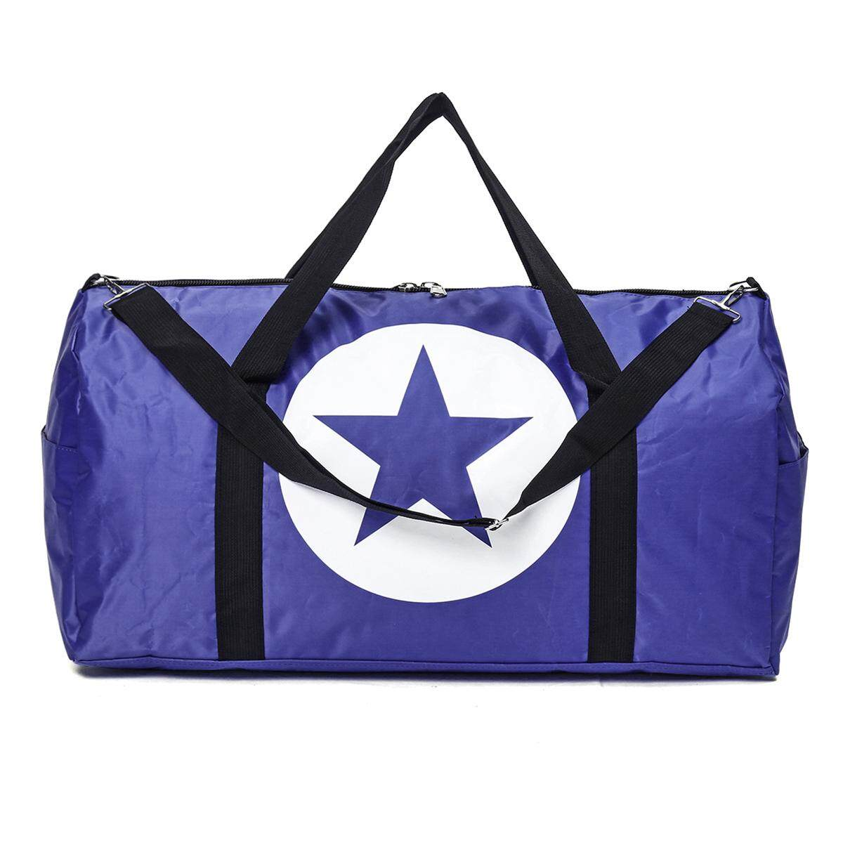 US Waterproof Travel Women Nylon Large Star Sports Gym Duffle Tote Handbag Bags