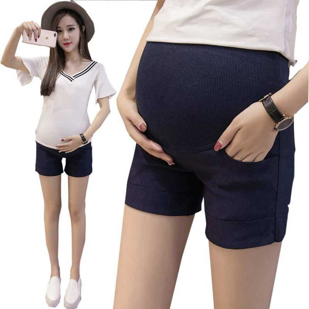 HSGA16RS Bac Bersalin Kapas Celana Pendek Musim Panas untuk Wanita Hamil Plus Pakaian Kehamilan Ukuran Warna