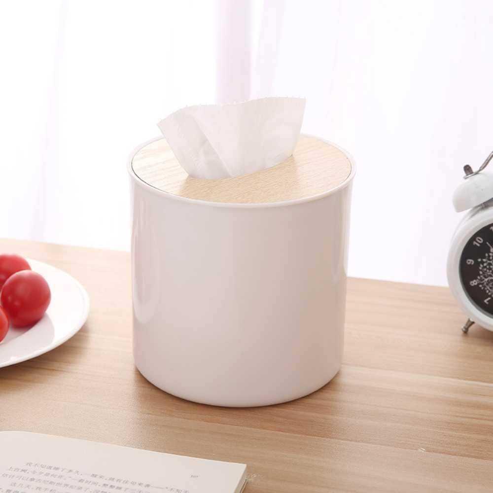 Wuli Dapat Dilepas Tisu Gulungan Kotak Tisu Kayu Wadah Tisu Rumah Tissue Napkin Log Wadah Kotak