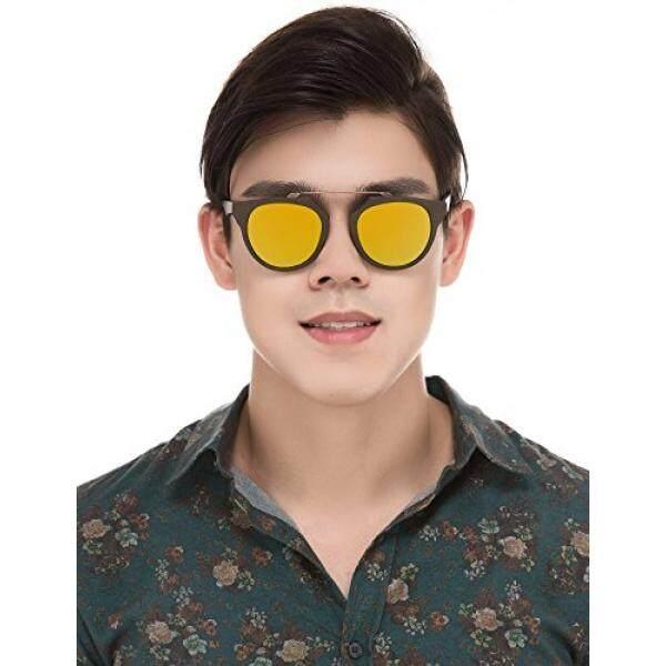 Baviron Men's Wood Grain Sunglasses Retro Classic Polarized UV400 Eyewear