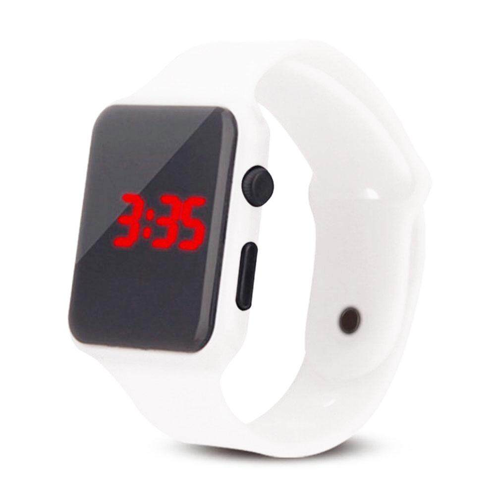 New square silicone LED watch student touch screen square led watch
