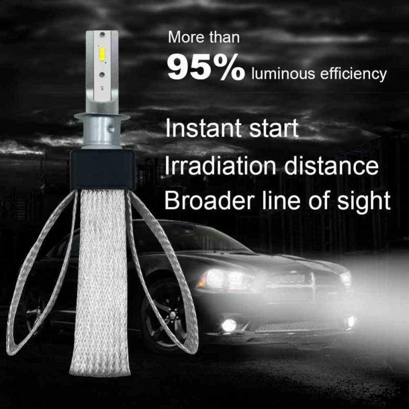 Kerui 2x Mobil COB LED Lampu Depan Mobil Hi-Lo Beam Kotak Bohlam H1 200 W 80000LM Bohlam LED Terang Lampu 6000 K