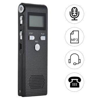 Professional Voice Audio Telephone Recorder Dictaphone 8GB MP3 Music Player language Supports for 384Kbps Sound Multi Concert Business Lectures Active