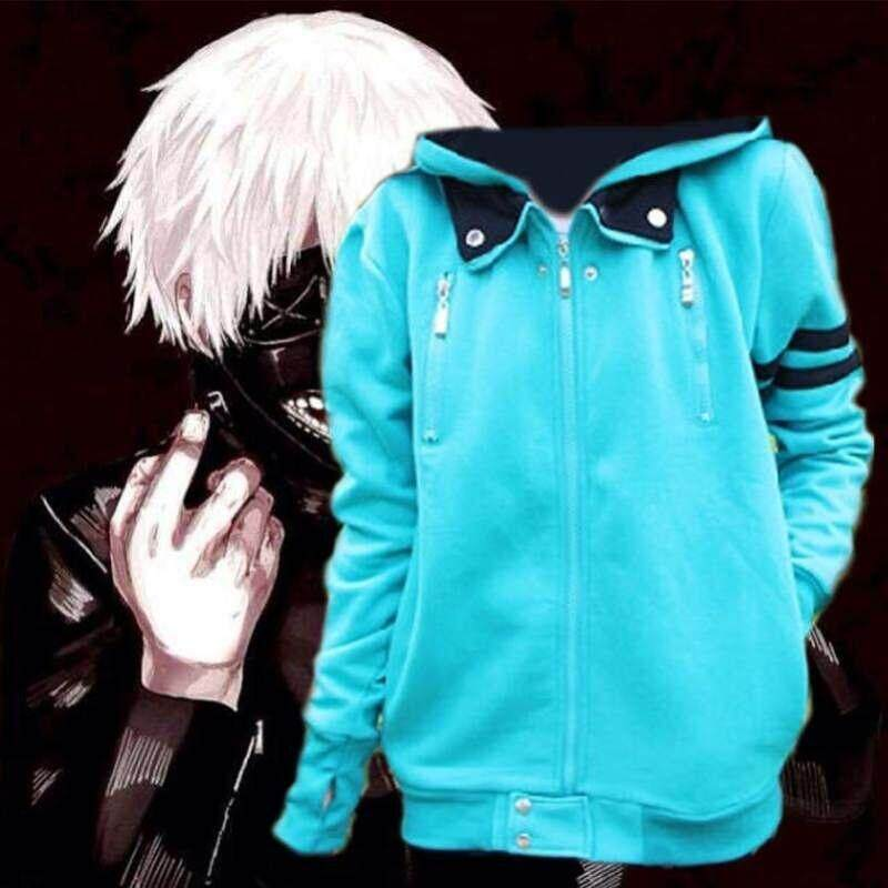 Anime Tokyo Ghoul Kaneki Ken Cosplay Unisex Hoodie Jacket Coat