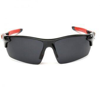Polarized Sunglasses New Outdoor Unisex Sun Glasses Black Frame Gray Lens