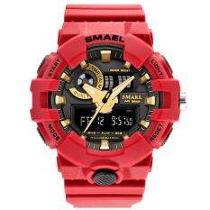 SMAEL 1642 Mens Watches Top Brand Luxury LED Digital Fashion Digital Men's Watch Hot Clock erkek saat Men Gift Black Red Watches – intl