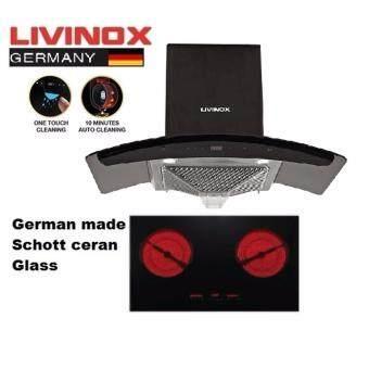 Livinox Lch Coral 90bl Cooker Hood + Livinox Hrh2222 Electric Hob