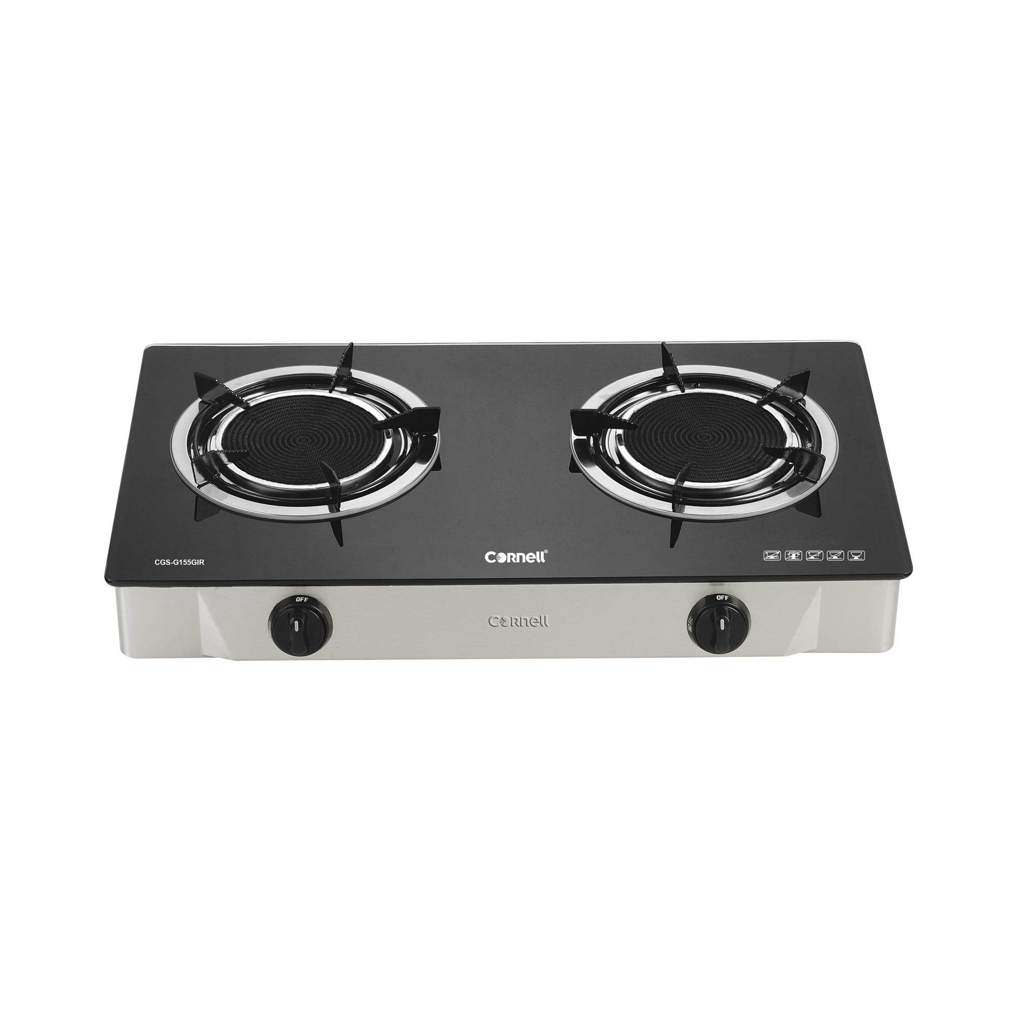CORNELL INFRARED GLASS STOVE DOUBLE BURNER (CGS-G155GIR)