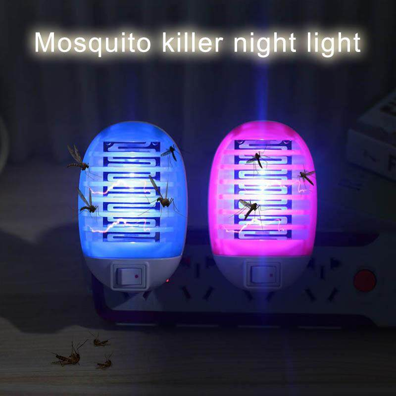 YBC 2Pcs Mosquito Killer With LED Night Light Electronic Bug Zapper US Plug Insect Catcher Trap - intl image on snachetto.com