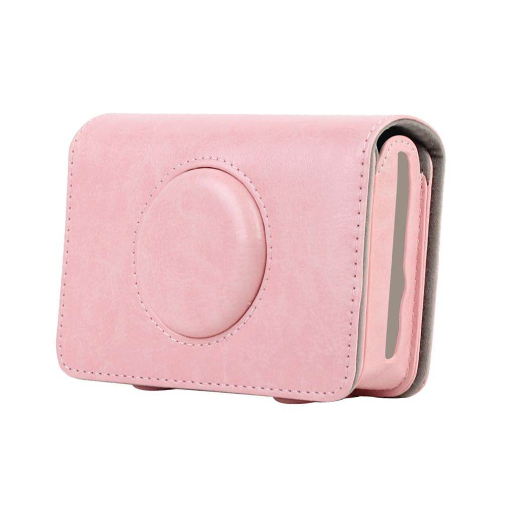 Miracle Shining Leather Case Bag for Polaroid Snap Touch Instant Print Digital Camera Pink