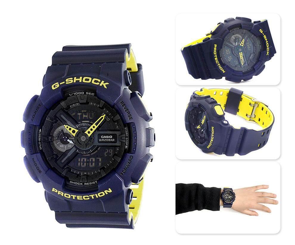 การใช้งาน  นครนายก 【 STOCK】Original _ Casio_G-Shock Duo W/เวลา 200 เมตรนาฬิกากีฬาพร้อมไฟแอลอีดีอัตโนมัติ GA-110LN-2A