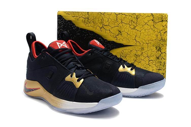 huge discount abfeb e7cb8 Nike_Authentic Paul George 2 Black Blue Purple Men's Basketaball Shoe PG-13  Global Sales