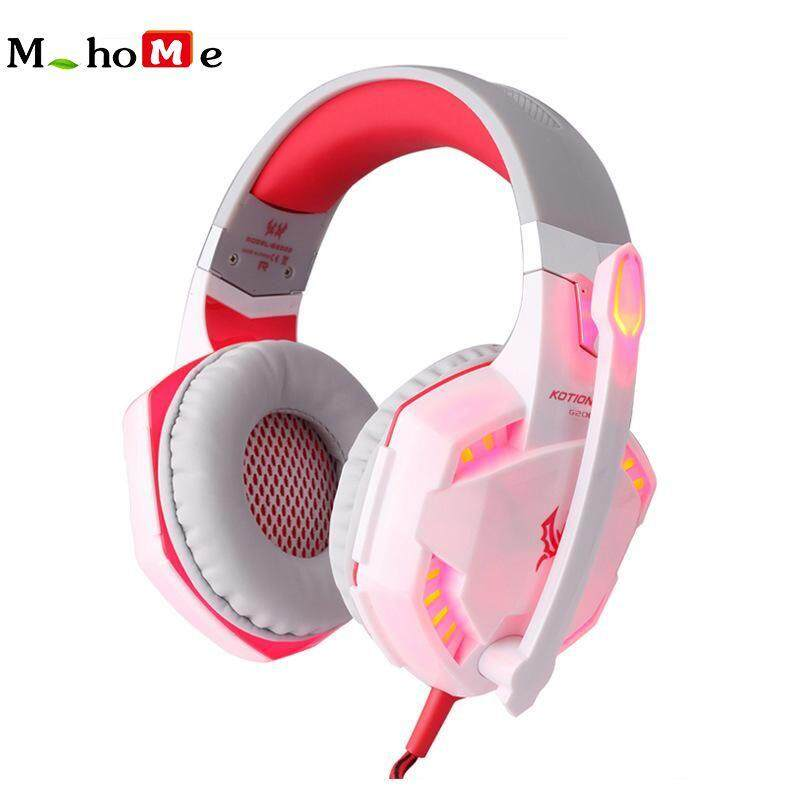 M_home G2000 Noise Canceling LED Backlight Adjustable Sport Headphone Gaming Headphones Headset Deep Bass Stereo with Mic Wired for PC Laptop Computer
