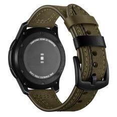 Tương thích Galaxy (46mm) Ban Nhạc Gear S3 Ban Nhạc 22mm Chính Hãng Dây Da Thay Thế Khóa Dây Đeo Cổ Tay cho Samsung Gear S3 Biên Cương Đồng Hồ Thông Minh Smartwatch