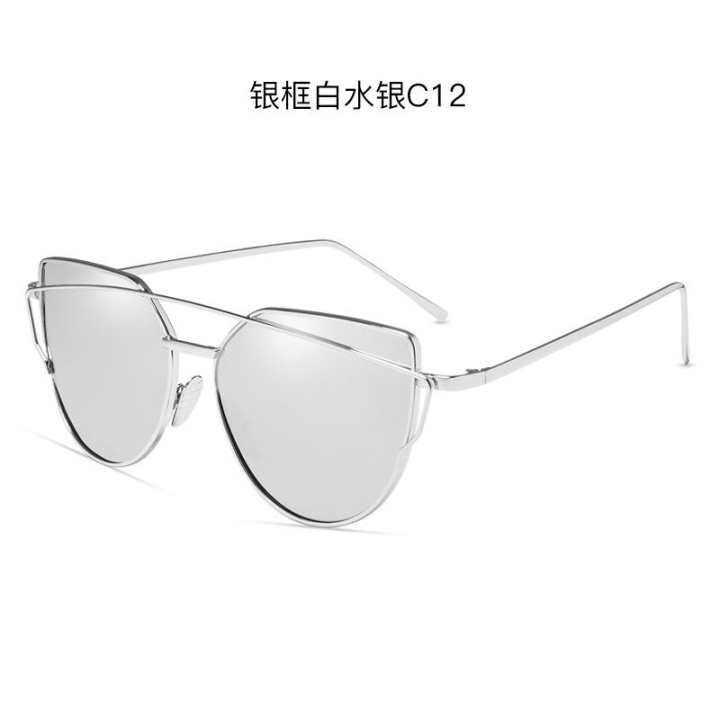 251c9f0c69 Evercute Hdcrafter SC013 Eropa dan Amerika Baru Kacamata Hitam Modis Logam  Kacamata Film Retro Versi Korea