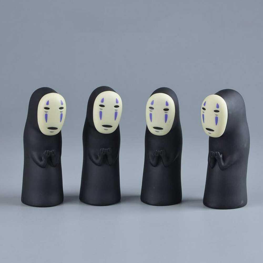 Anime Jepang Spirited Away Ada Wajah Man Action Figure Mainan Kaonashi Miyazaki Ghibli Boneka Kami Kartun