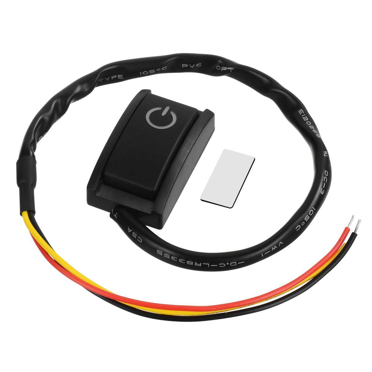 DIY Car Switch Paste Type Button Switch OFF//ON DC 12V 200mA Double Sided with Adhesive Tape