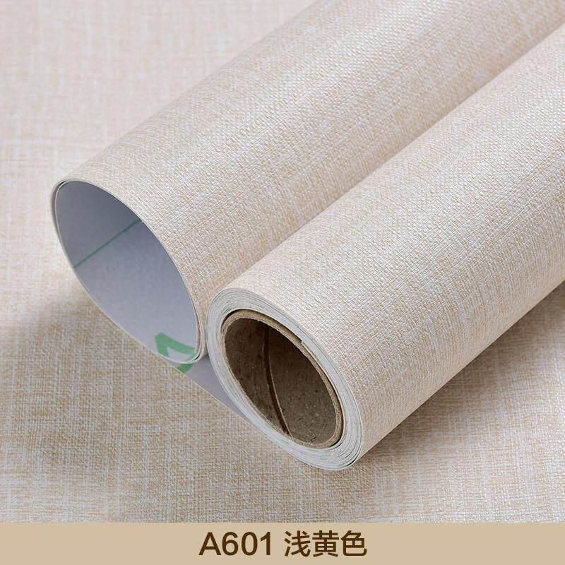 5Mx60cm PVC Self-adhesive Waterproof Wallpaper Linen Stripes Women Kids Home Decor Living Room Bedroom Background Wall Stickers
