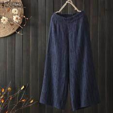 Quần ống rộng nữ chất liệu linen cao cấp thời trang mới nhất ZANZEA