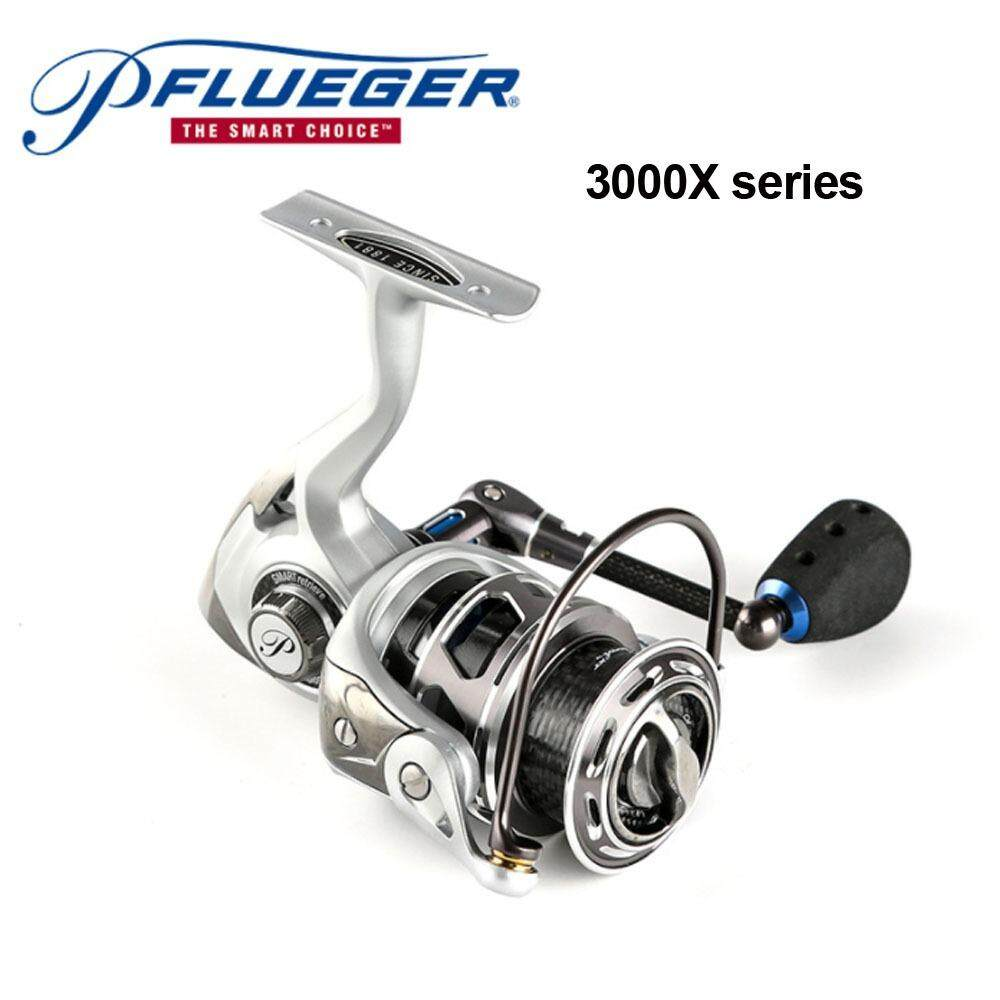 2 Color Pflueger PARXTSP Pre-Loading Spinning Reel 10+1BB 6.2:1 2 Series Left/Right Hand Durable Fishing Accessories Pesca Angler Tool  (Silver,Light Grey)