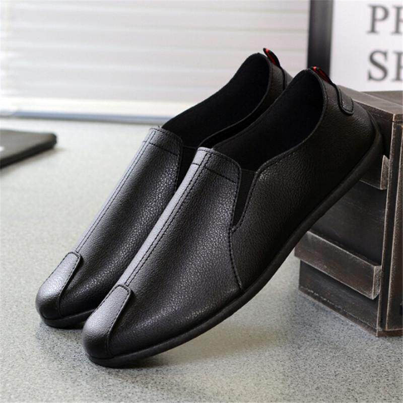 Summer Men Driving Casual Boat Shoes PU Leather Shoes Moccasin Slip On Loafers - intl