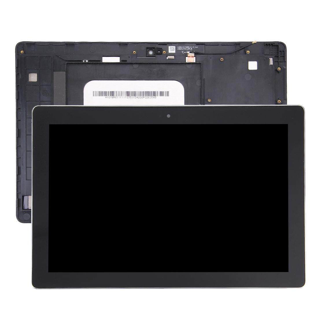 P023 Z300CNL Mobile Phone LCD Screen Replacement LCD Screen and Digitizer Full Assembly with Frame for Asus ZenPad 10 Z300C P01T Green Flex Cable Version Z300CL Black Z300CG