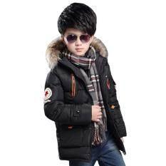 Trẻ em Bé Trai Mùa Đông Dày Dài Áo Khoác Ấm Áp Cotton-Áo đệm Lưới Dài Cao Cấp