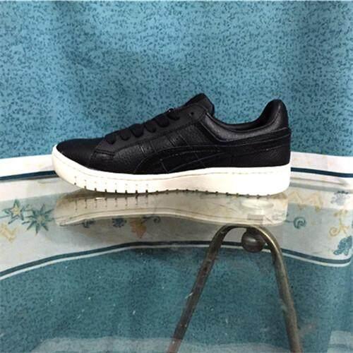 100% ยี่ห้อ Asic อย่างเป็นทางการ Onitsuka Tigers ผู้ชาย/รองเท้าวิ่งผู้หญิงรองเท้าผ้าใบสีดำสีดำ Pointgetterlo Gelptg ข้อต่ำ By Wnsstore.