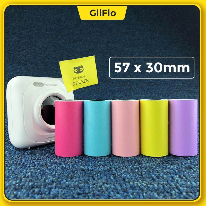 [Unofficial]5pcs Paperang 5 rolls of color stickers thermal paper 57*30 can paste