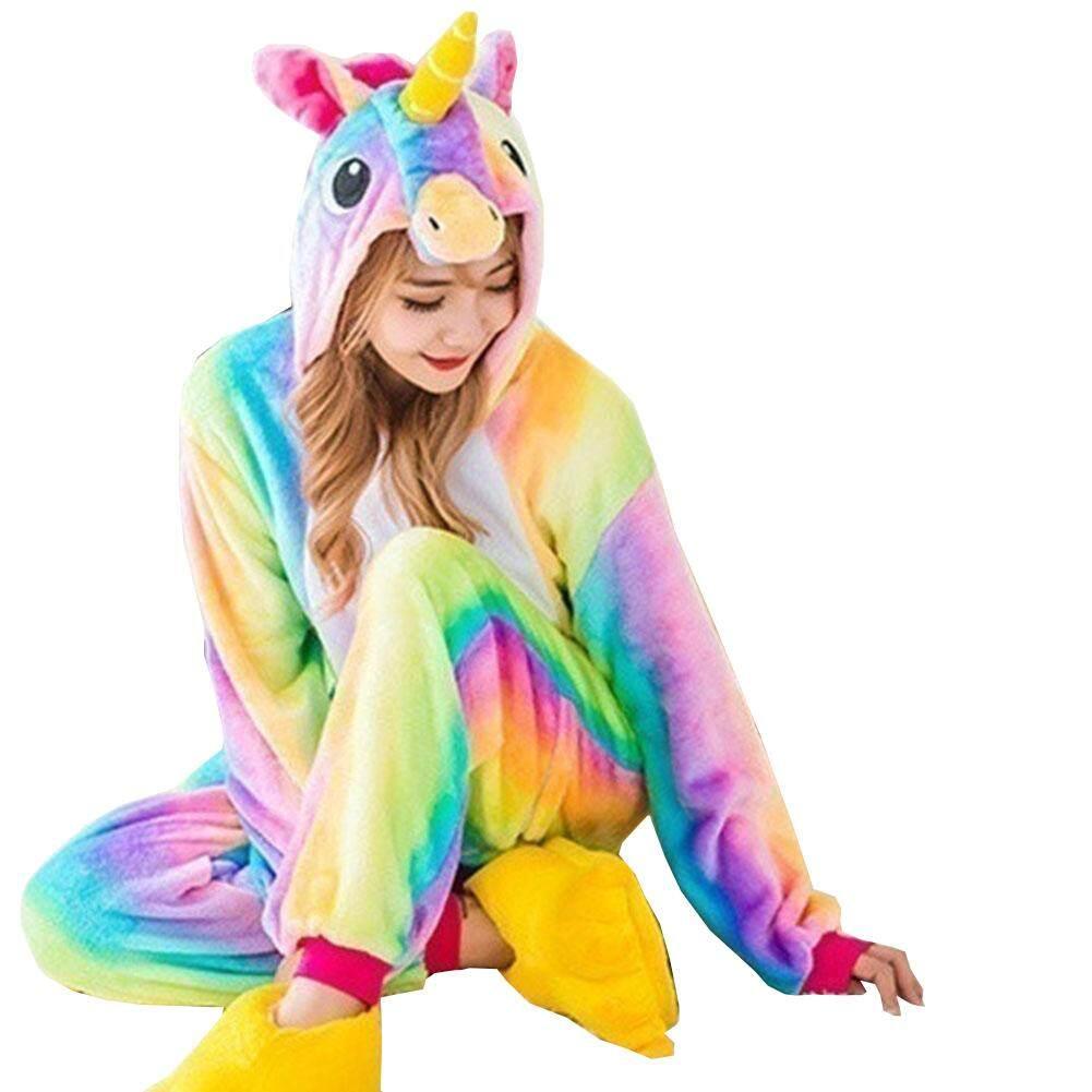 SYS Women Animal Unicorn Pajamas Set Adult Unisex Unicorn Pyjamas Costume Sleepwear for Kid Suit(without Shoes)es)