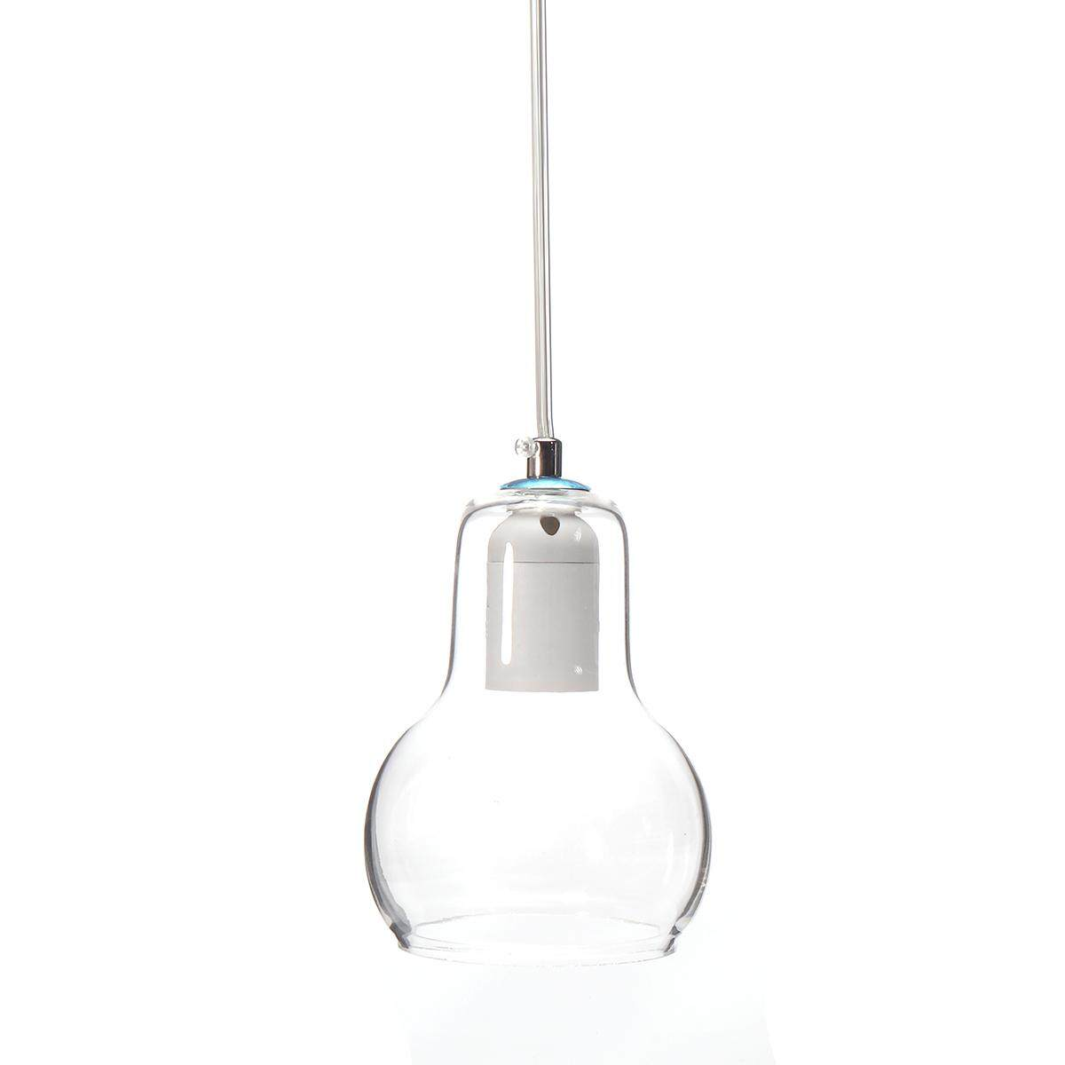 Modern Gourd Glass Pendant Lamp Ceiling Lights Bar Chandeliers Fixtures 2504HC # Clear - intl