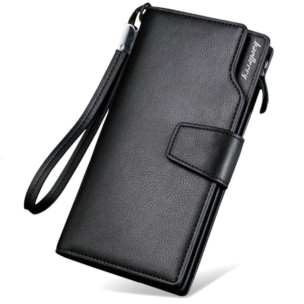 Men Leather PU Wallet Pouch Holder Long Passport Cover Mobile Pocket Male Purse