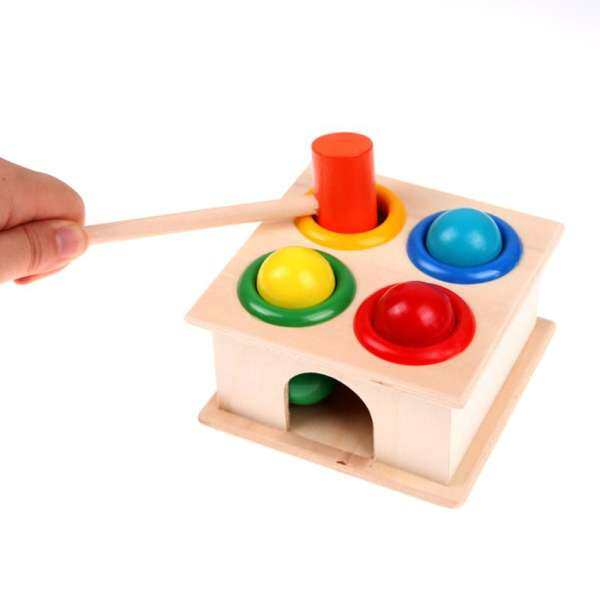 Wooden Toys Hammer Wood Toy Early Learning Educational Toys For Children Musical Toys Instrument Gift