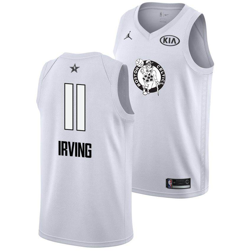 los angeles d835b f6b54 For Male All-Star 2018 Boston Celtics Swingman Jersey Kyrie Irving Num 11  Basketball Clothes