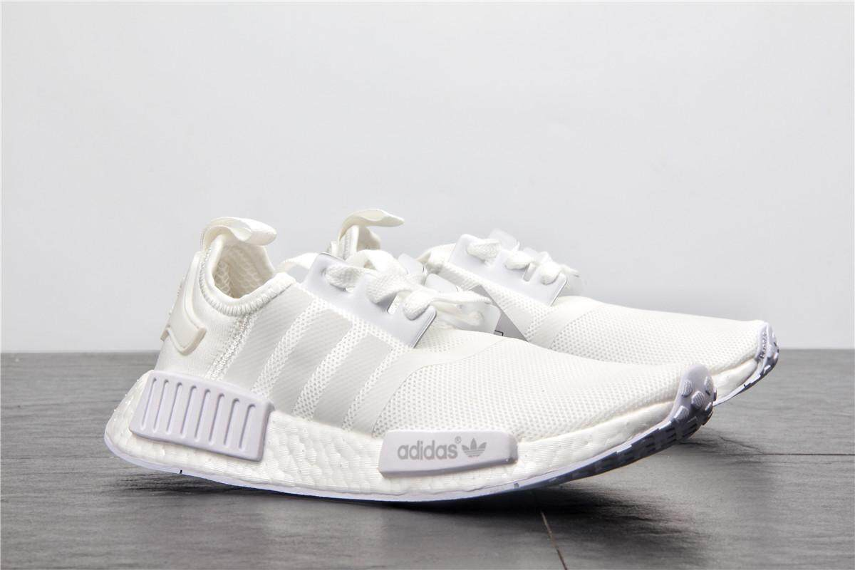 Adidas NMD Boost Men s Breathable Running Shoes Fashion Sneakers (White) e90f649943