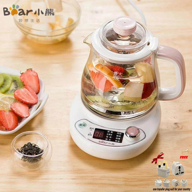 LAHOME Bear YSH-A08G1 Health Pot, Household Thickening, All Glass, Multi-function Electric Kettle, Boiling Tea