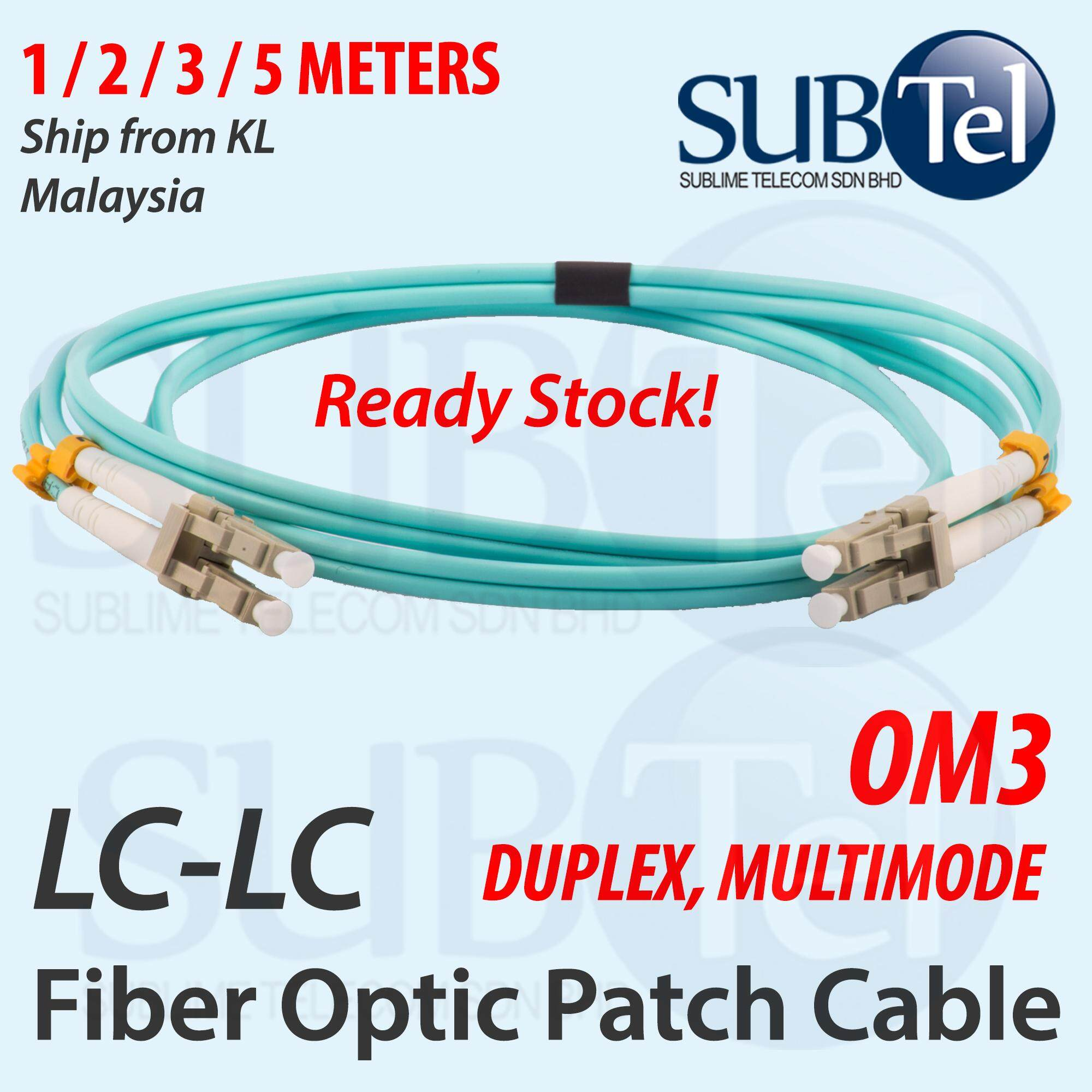 1Meter LC//LC 10G Multi-Mode Duplex OM3 50//125 Fiber Optic Networking Cable