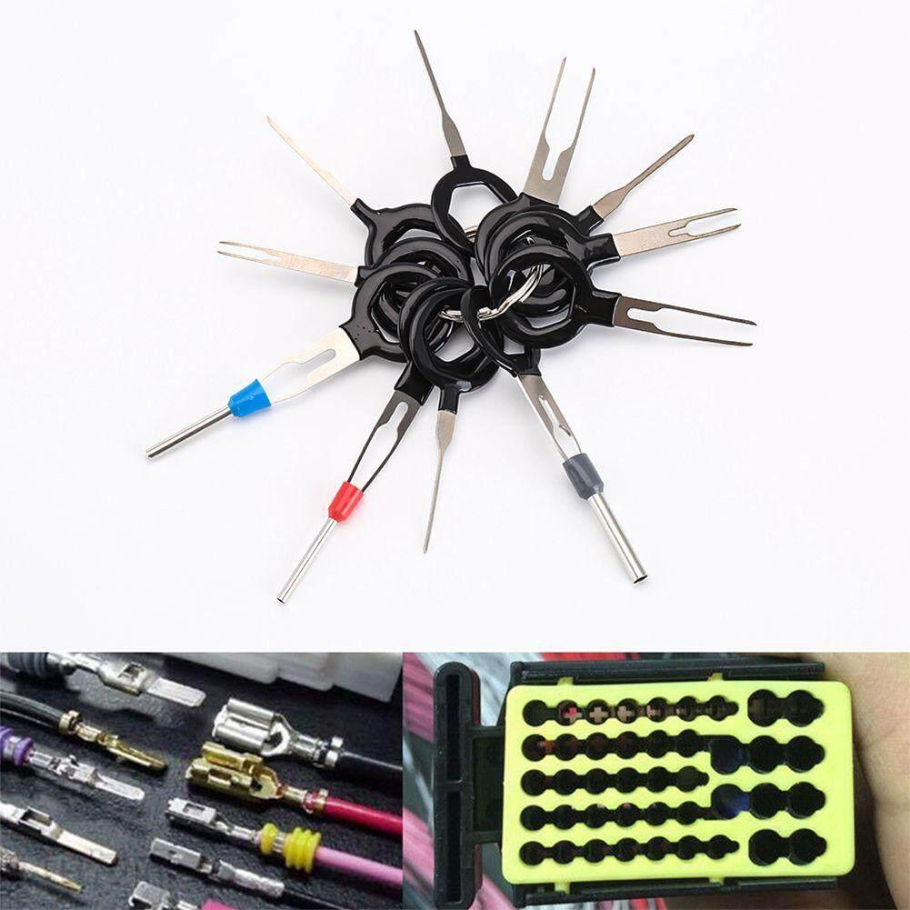 11 × Car Repairing Terminal Removal Repair Tools Set Wiring Crimp Connector Pin